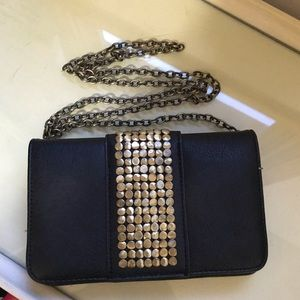Black and gold purse from Target